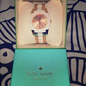 Kate Spade ♠️ White/ RoseGold Tone Skyline Watch